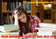 JEE Main Exam Pattern 2018