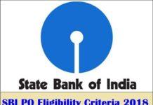 SBI PO Eligibility Criteria 2018