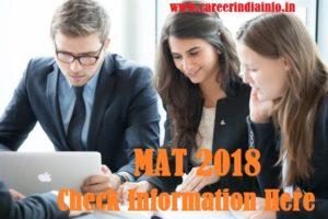 MAT 2018 Information