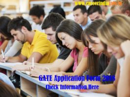 GATE Application Form 2018