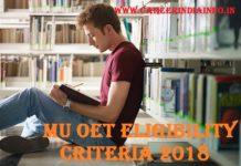 MU OET Eligibility Criteria 2018