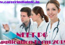 NEET PG Application Form 2018