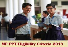 MP PPT Eligibility Criteria 2018: Check Here