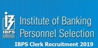 IBPS Clerk 2019 Exam Details