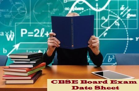 CBSE 12th class Date Sheet 2020 Details