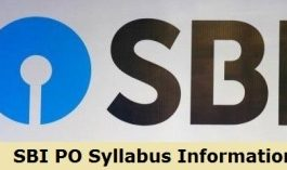 SBI PO Syllabus 2020 Information