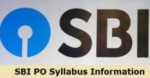 SBI PO Syllabus 2020 Information