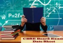 CBSE 10th Date Sheet 2020 Information